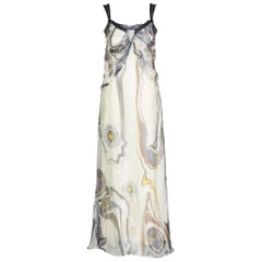 Nina Ricci Sleeveless Swirl print Silk maxi Dress