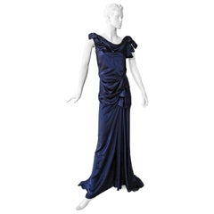 Nina Ricci Stunning Deco Inspired Bows Bias Cut Silk Dress Gown   Red Carpet!