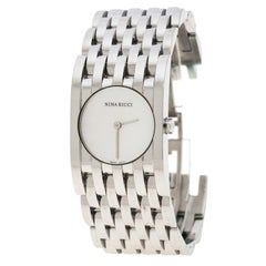Nina Ricci White Mother of Pearl Stainless Steel N000113 Women's Wristwatch 25 m