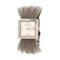 Nina Ricci White Mother of Pearl Stainless Women's N019.12 Quartz Watch 24 mm