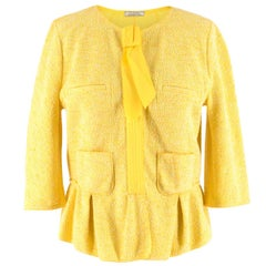 Nina Ricci Yellow Tweed Jacket SIZE IT 42