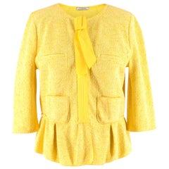 Nina Ricci Yellow Tweed Jacket - Size US 6