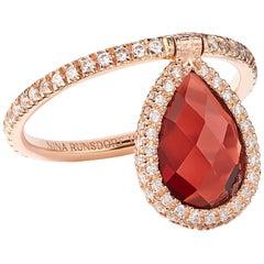 Nina Runsdorf Rose Gold Medium Garnet Flip Ring