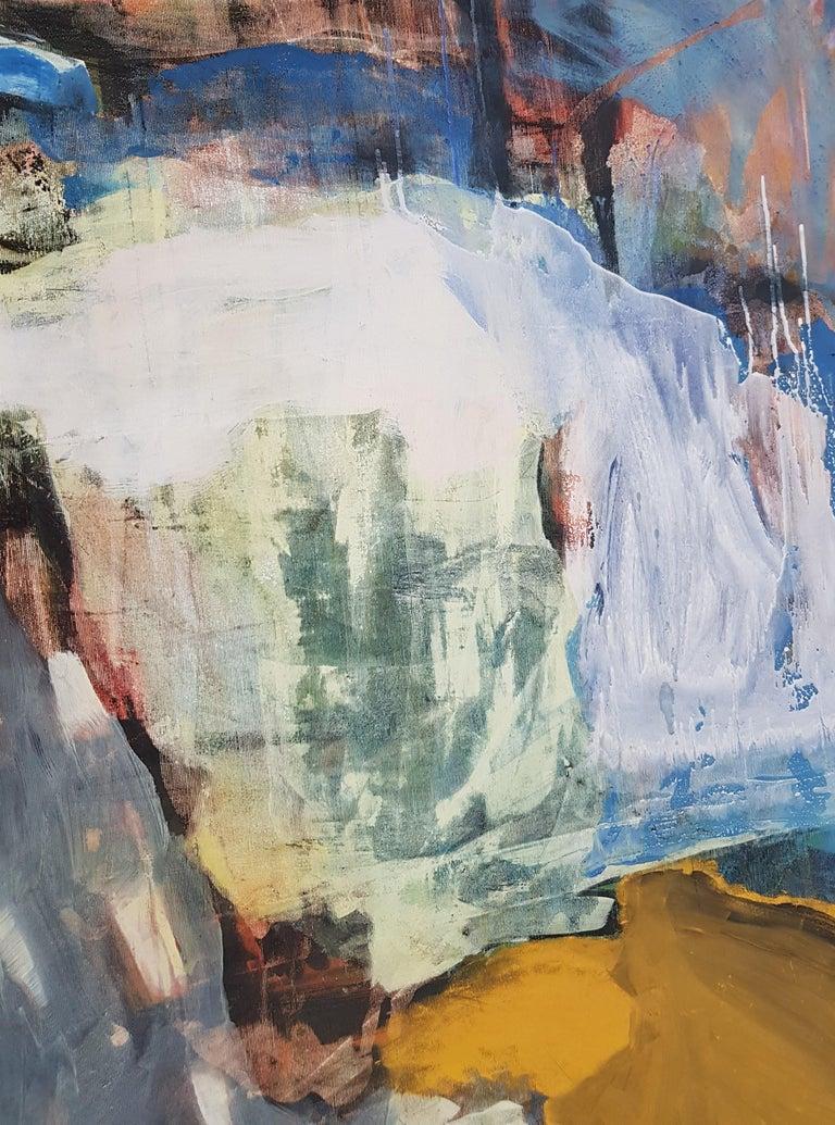 Sunshine Passing Thru - Abstract Painting by Nina Ruseva