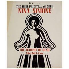 Nina Simone The High Priestess of Soul 1980s US Mini Poster