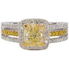 Ninacci Couture Fancy Yellow Diamond Ring