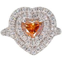 Ninacci Couture GIA Certified Fancy Orange Diamond Ring
