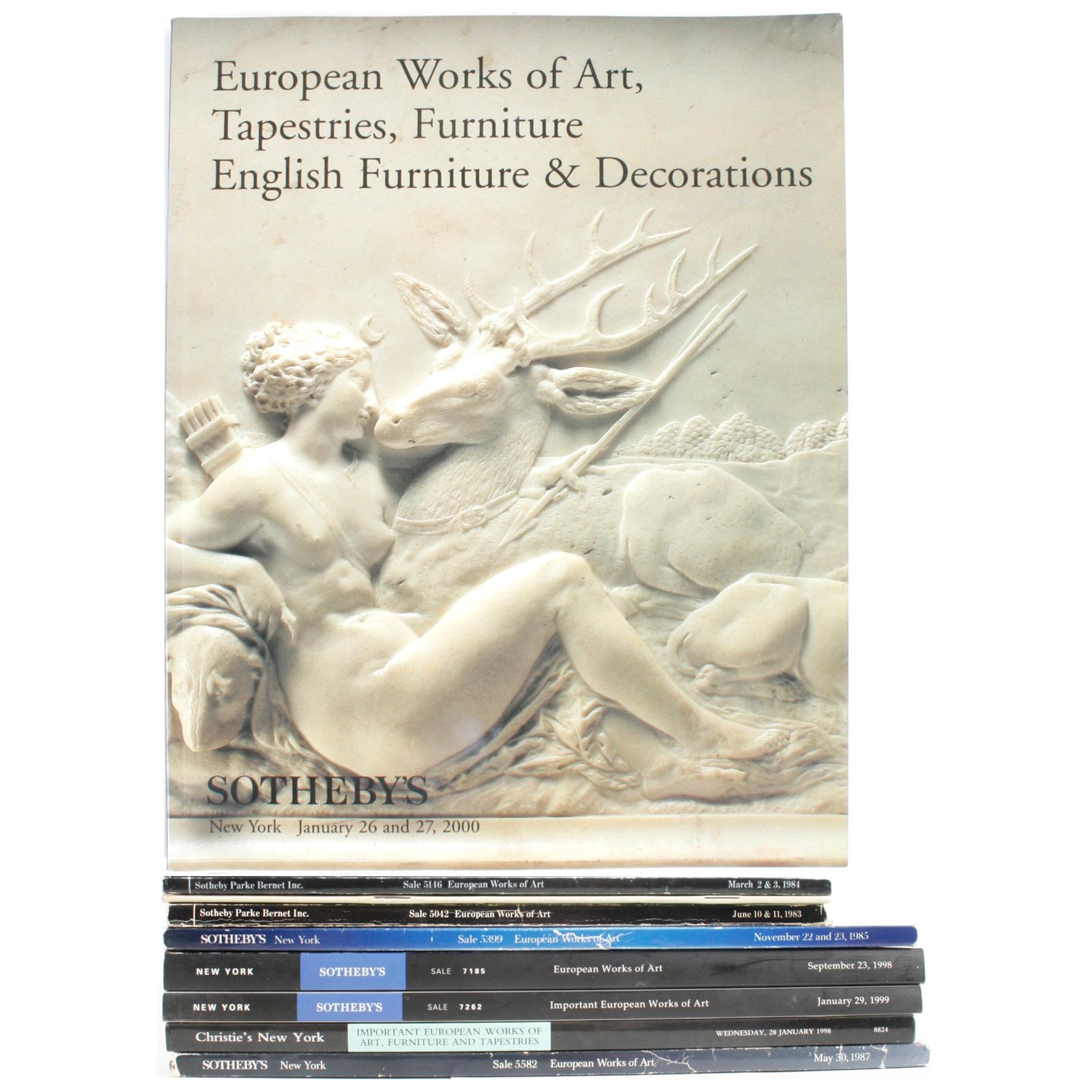 Nine Auction Catalogues, European Works of Art