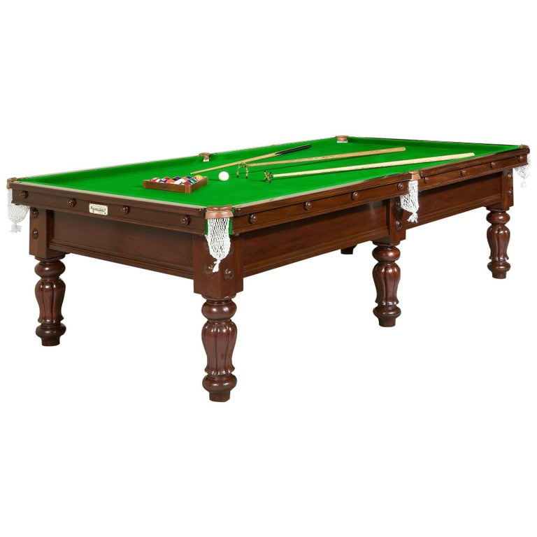 Nine Foot Billiard Table By Burroughs And Watts For Sale