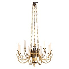 Nine-Light Chandelier in the Neoclassical Style