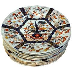 Nine Masons Ironstone Dinner Plates Imari /Indian Tree Pattern Variation