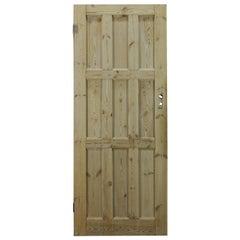Nine Panel Pine Interior Door, 20th Century