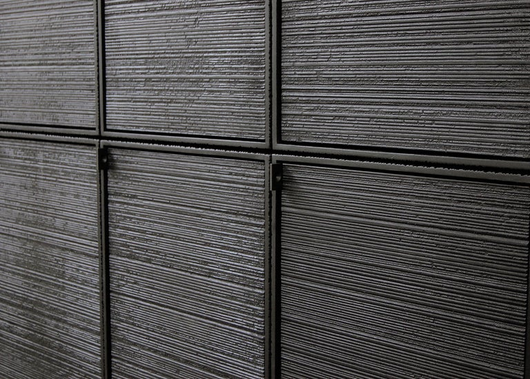 Nine rectangles / chest of doors Sawn + blackened + maple + ash Measures: 65