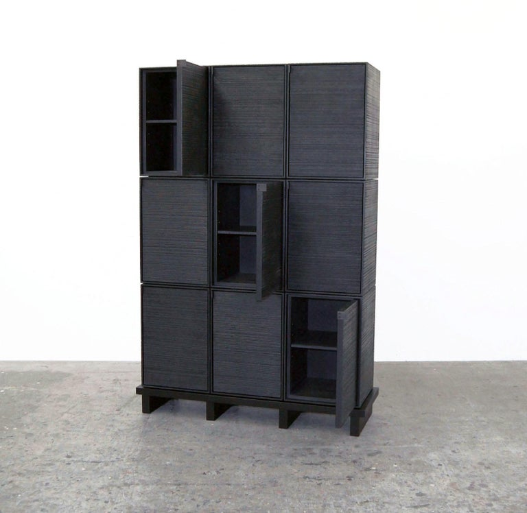 Minimalist Nine Rectangles Chest of Doors For Sale