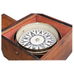 19th Century Boxed Ships Compass