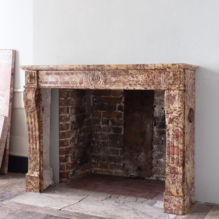 19th Century French Breche Fireplace For Sale 6
