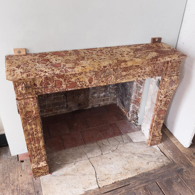19th Century French Breche Fireplace For Sale 9