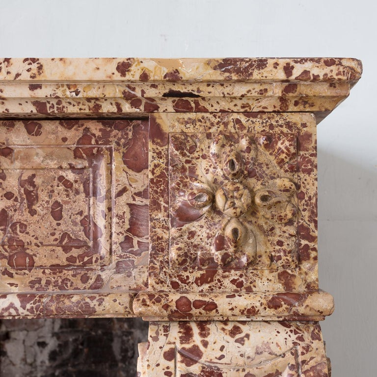 19th Century French Breche Fireplace In Good Condition For Sale In London, GB