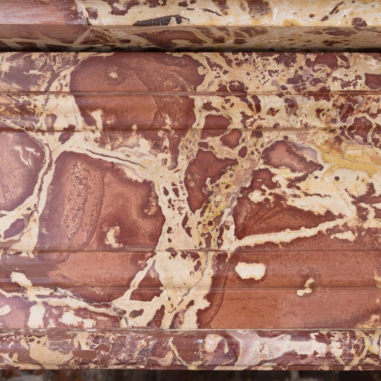 Breccia Marble 19th Century French Breche Fireplace For Sale
