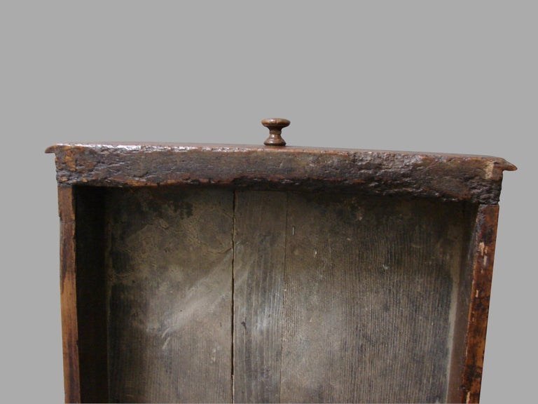 19th Century French Fruitwood Farm Table with Long Drawer For Sale 6