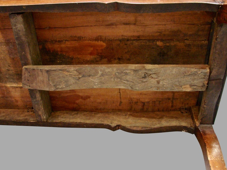 19th Century French Fruitwood Farm Table with Long Drawer For Sale 10