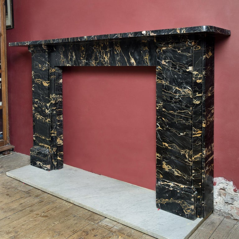 19th Century Portoro Marble Fireplace For Sale 5