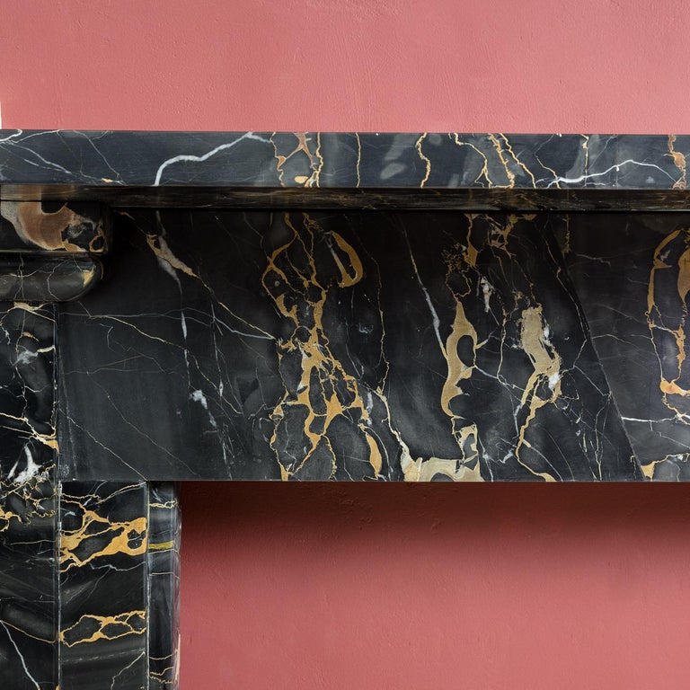 19th Century Portoro Marble Fireplace For Sale 6
