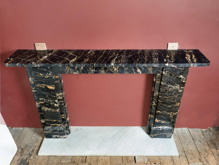 19th Century Portoro Marble Fireplace For Sale 10