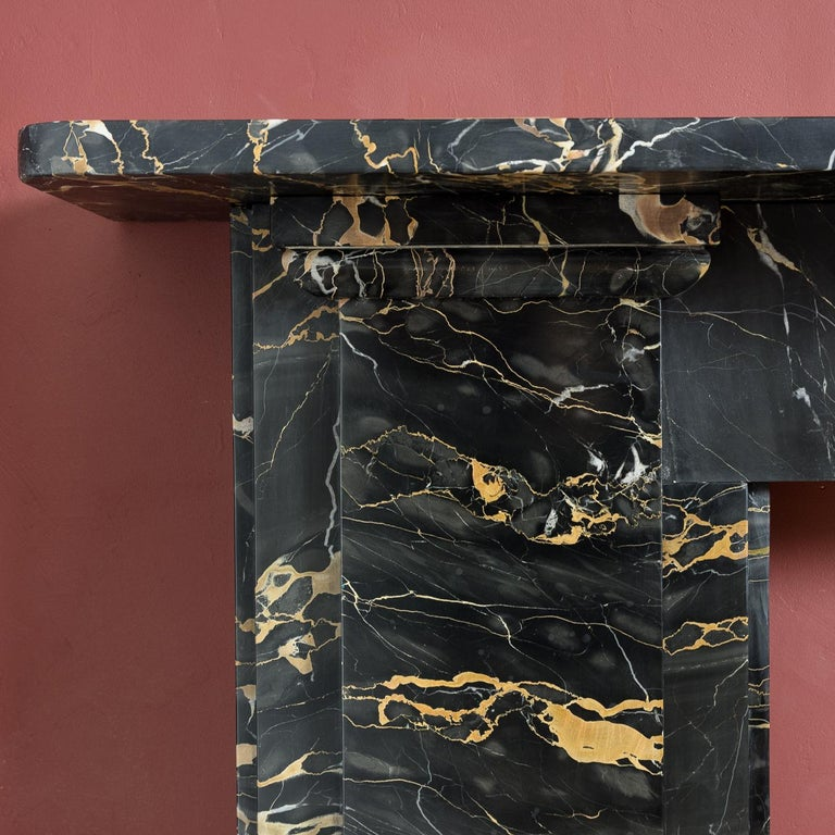 British 19th Century Portoro Marble Fireplace For Sale