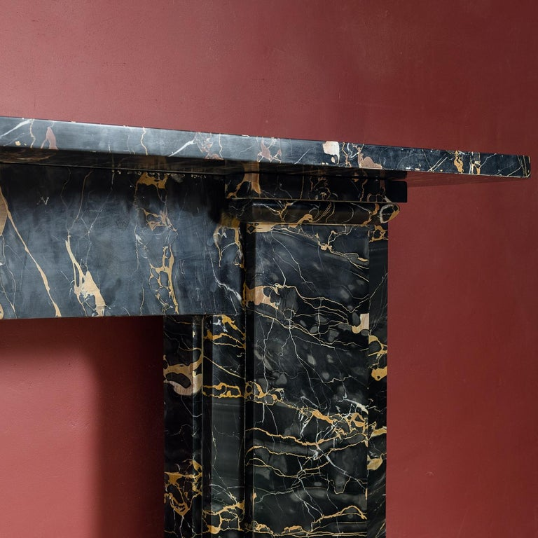 19th Century Portoro Marble Fireplace In Good Condition For Sale In London, GB