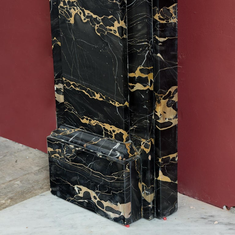 19th Century Portoro Marble Fireplace For Sale 1