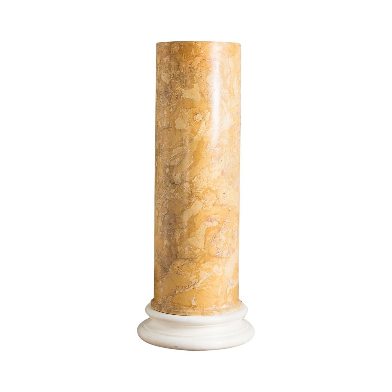 19th Century Sienna Scagliola Pedestal Column