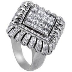 Nini 18 Karat White Gold Diamond Pave Ring