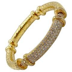 Nino Verita 18 Karat Rose Gold and 3.85 Carat Diamond Bracelet