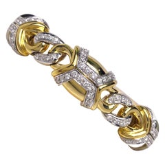 Nino Verita 18 Karat Yellow Gold and 5.03 Carat Diamond Bracelet