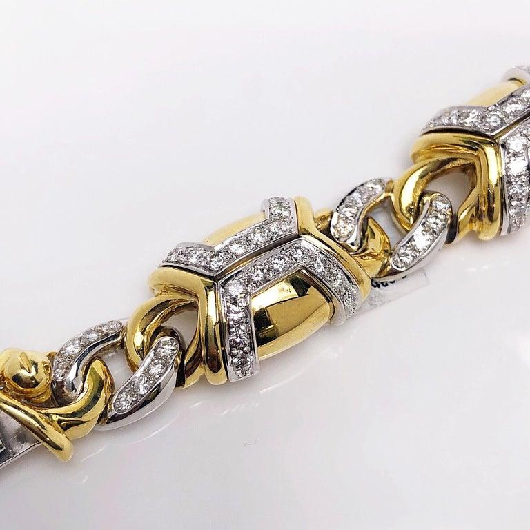 Nino Verita 18 Karat Yellow Gold and 5.03 Carat Diamond Bracelet In New Condition For Sale In New York, NY