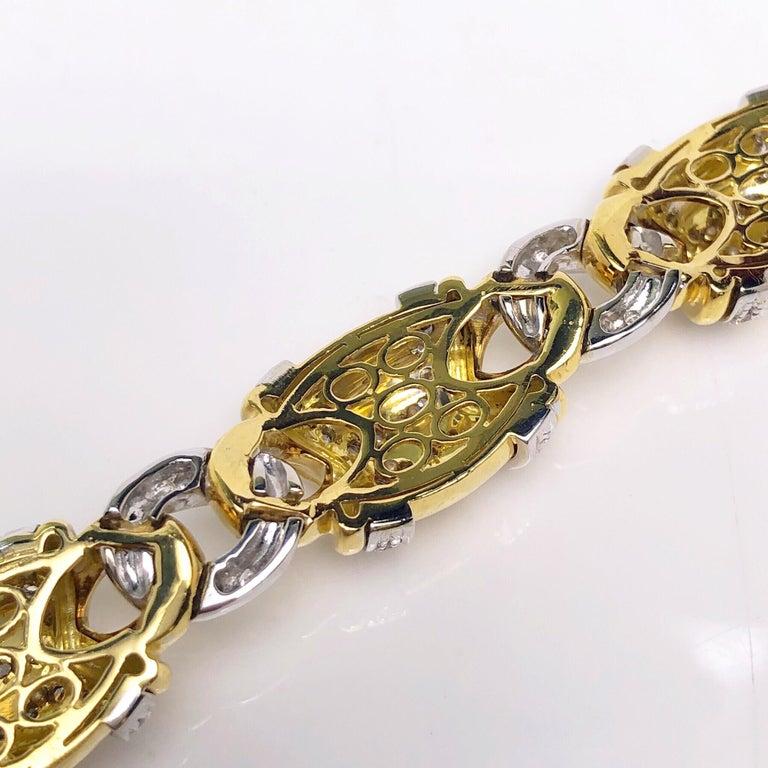Nino Verita 18 Karat Yellow Gold and 5.03 Carat Diamond Bracelet For Sale 1