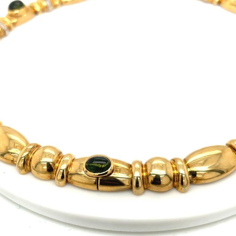 Nino Verita 18kt. Yellow Gold Diamond .90ct. & Cabochon Semi Precious Necklace For Sale 2
