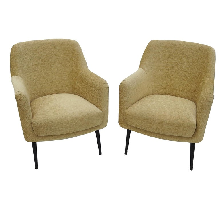 Mid-Century Modern Nino Zoncada Midcentury Club Chairs from Stella, Maris ll Ocean Liner For Sale