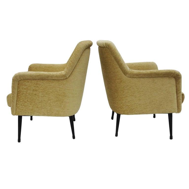 Italian Nino Zoncada Midcentury Club Chairs from Stella, Maris ll Ocean Liner For Sale