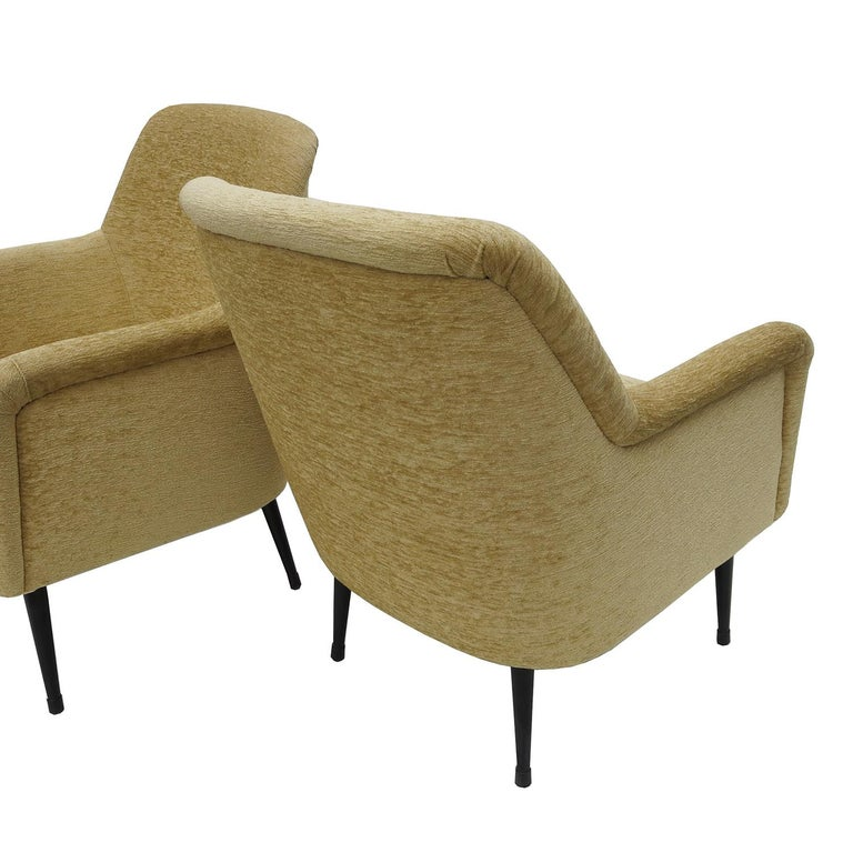 Painted Nino Zoncada Midcentury Club Chairs from Stella, Maris ll Ocean Liner For Sale