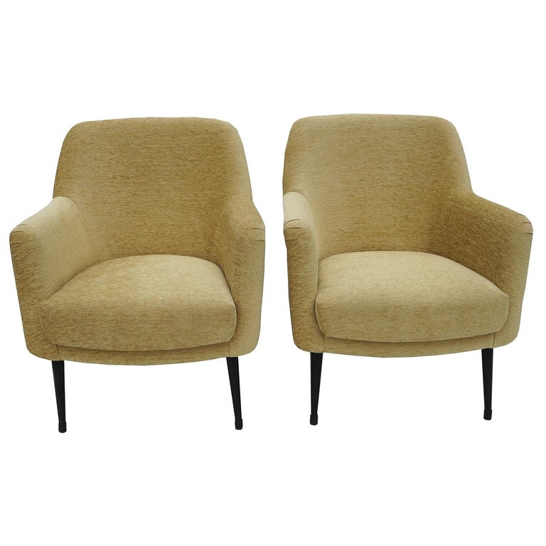 Nino Zoncada Midcentury Club Chairs from Stella, Maris ll Ocean Liner In Excellent Condition For Sale In North Hollywood, CA