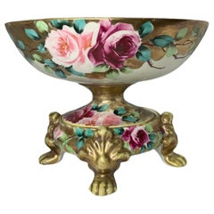Nippon Hand Painted Porcelain Bowl Centerpiece