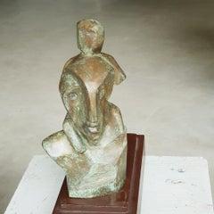 Father and Child,relationship,bronze sculpture by Indian Artist Niranjan Pradhan