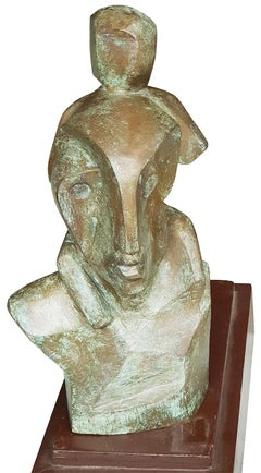 "Father & Child, Relationship, Bronze Sculpture by Modern Indian Artist""In Stock"""