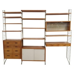 Nisse Strinning for String Pinewood Wall Unit, Sweden, 1950s