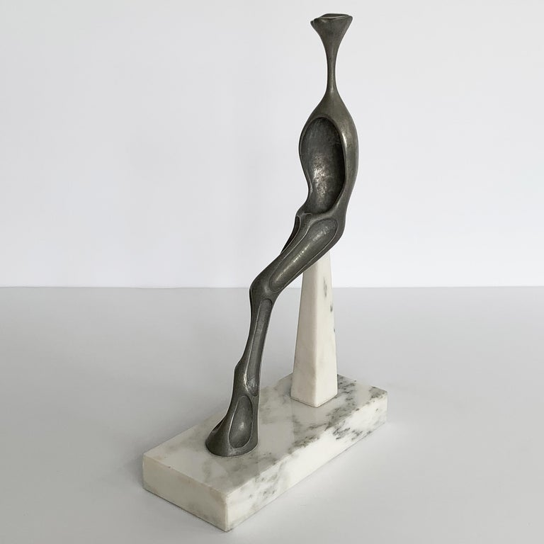 Nita K Sunderland Abstract Seated Figure Sculptures In Good Condition For Sale In Chicago, IL