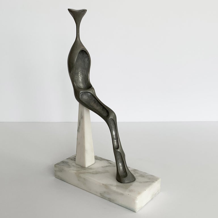 Late 20th Century Nita K Sunderland Abstract Seated Figure Sculptures For Sale