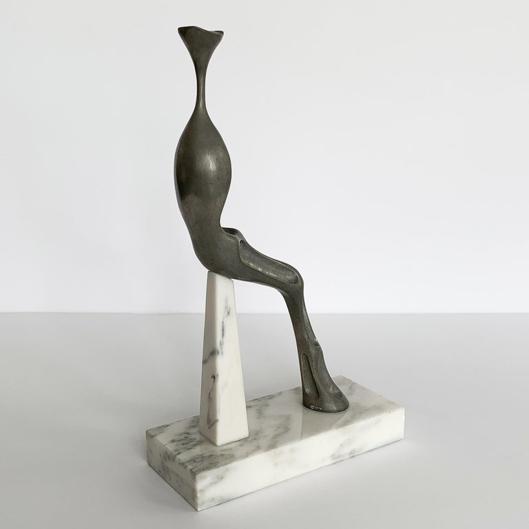 Aluminum Nita K Sunderland Abstract Seated Figure Sculptures For Sale