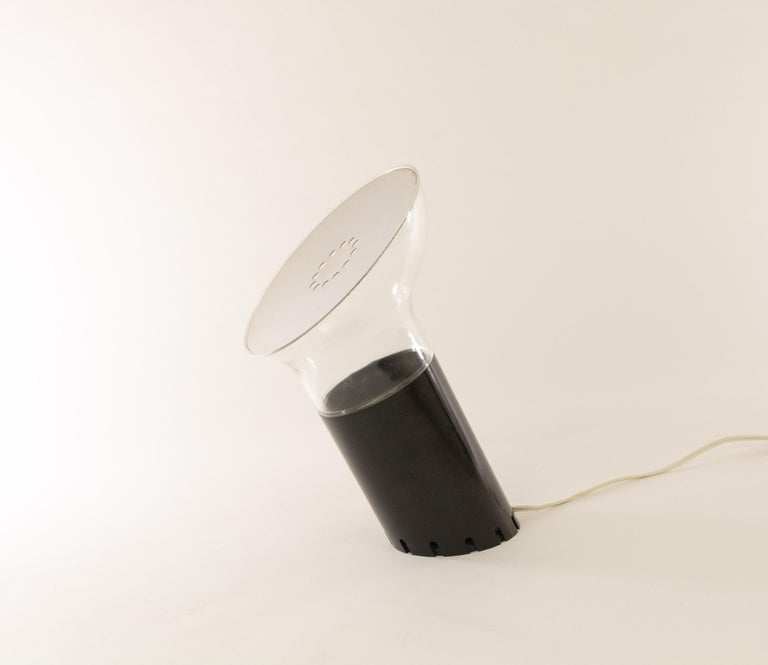 Mid-Century Modern Nitia Table lamp by Rodolfo Bonetto for Design House Guzzini, 1970s For Sale
